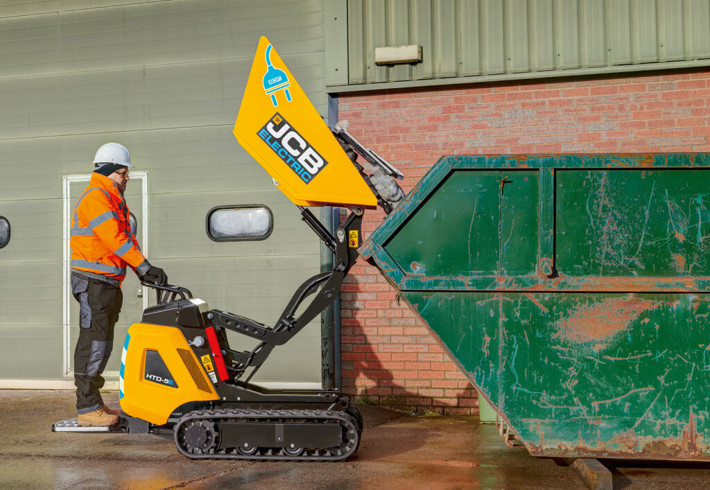 E-Dumpster joins JCB's battery-powered offerings