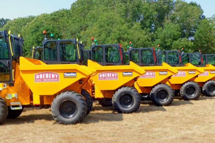 Thwaites dumpers for Breheny