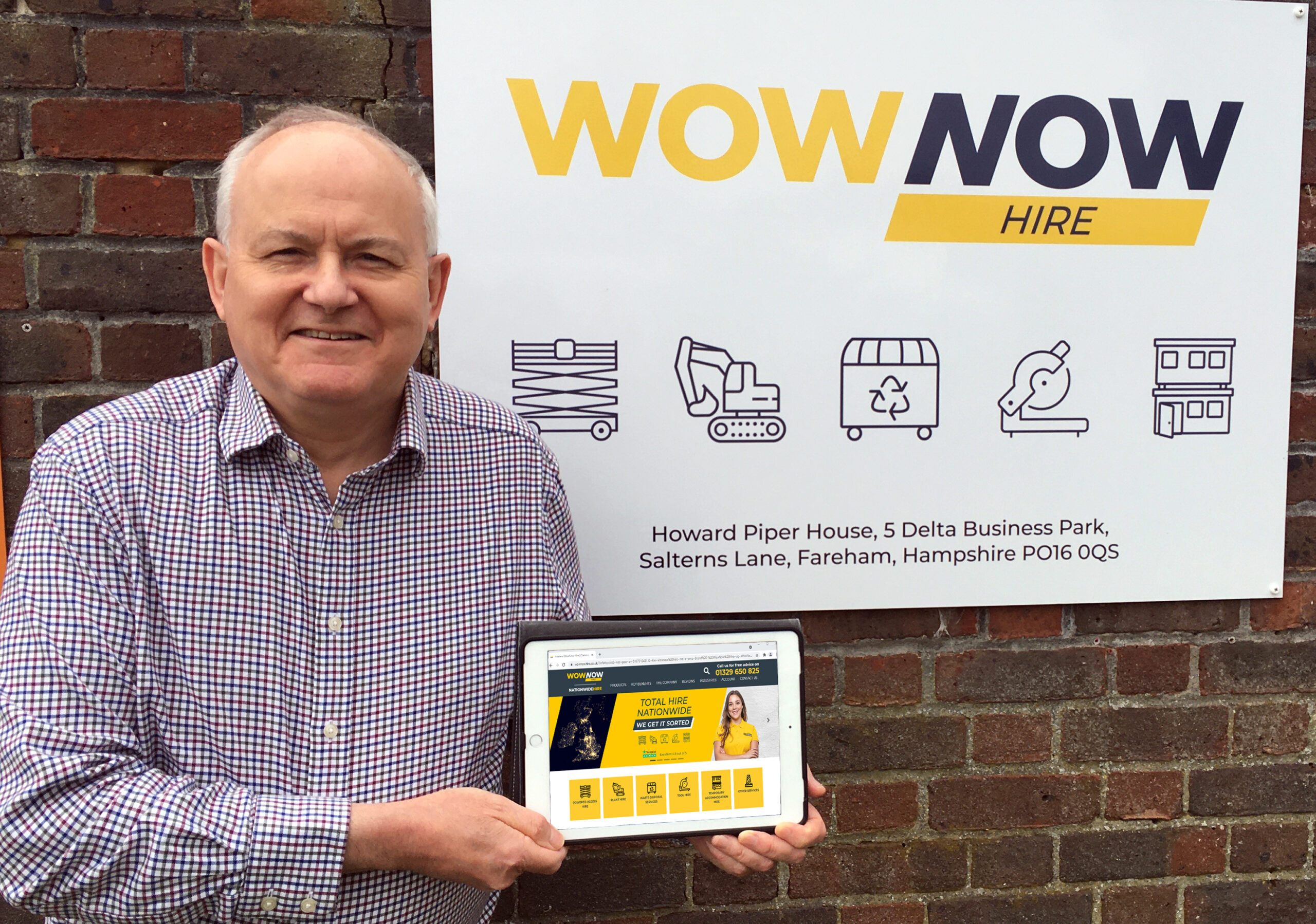 Construction equipment hire business aims to Wow with new name
