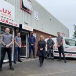 New PPE and workwear store opens in Burton as local boxer Frazer Clarke cuts ribbon at official opening.