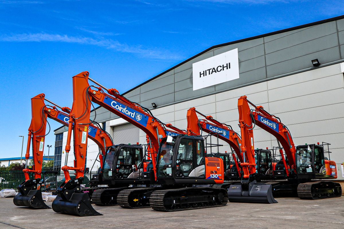 Coinford replace their fleet with Hitachi
