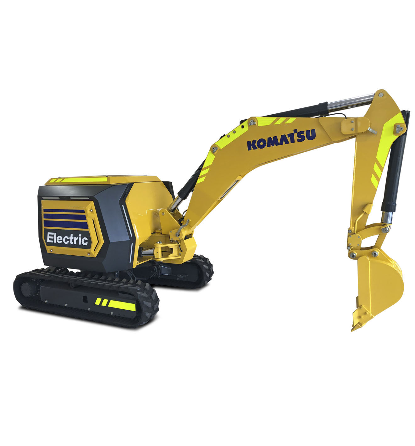 Announcing the concept machine of Komatsu's first fully electric and remote-controlled mini excavator powered by lithium-ion battery