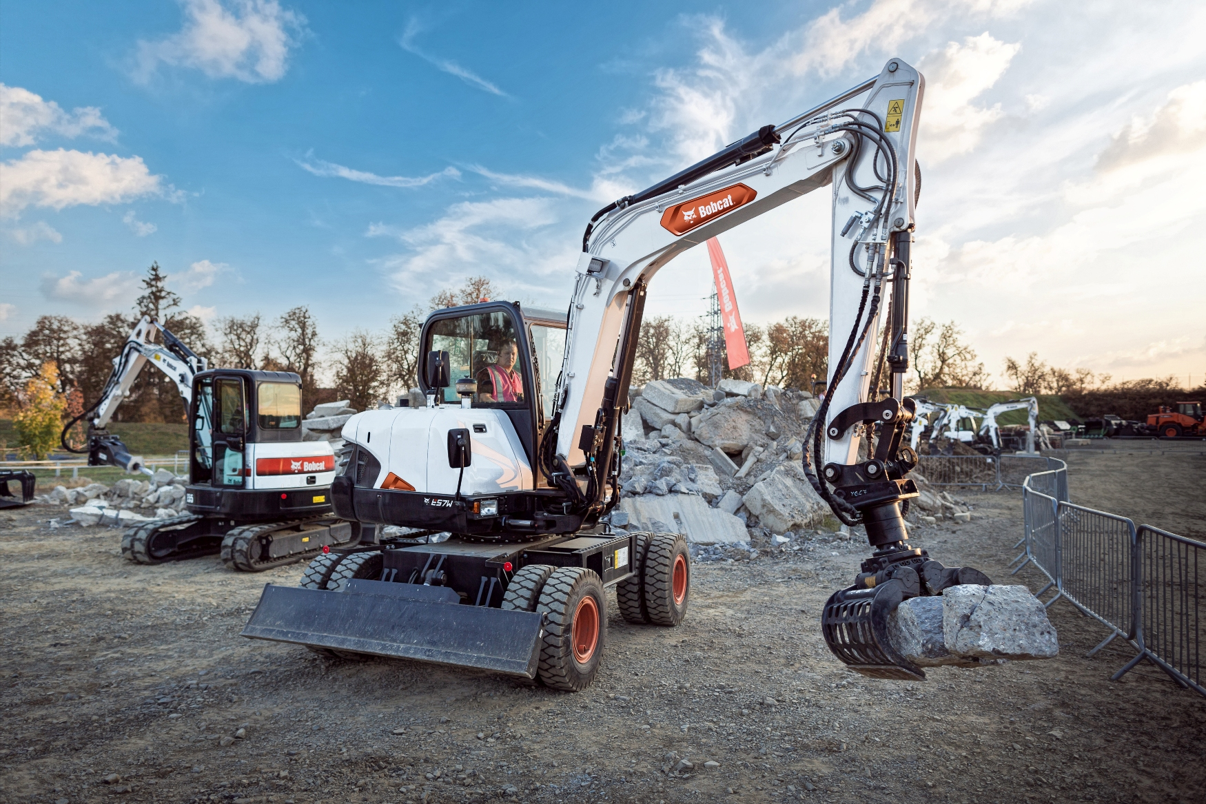New 6 tonne Wheeled Excavator from Bobcat  Powered by Fuel Efficient Stage V Engine