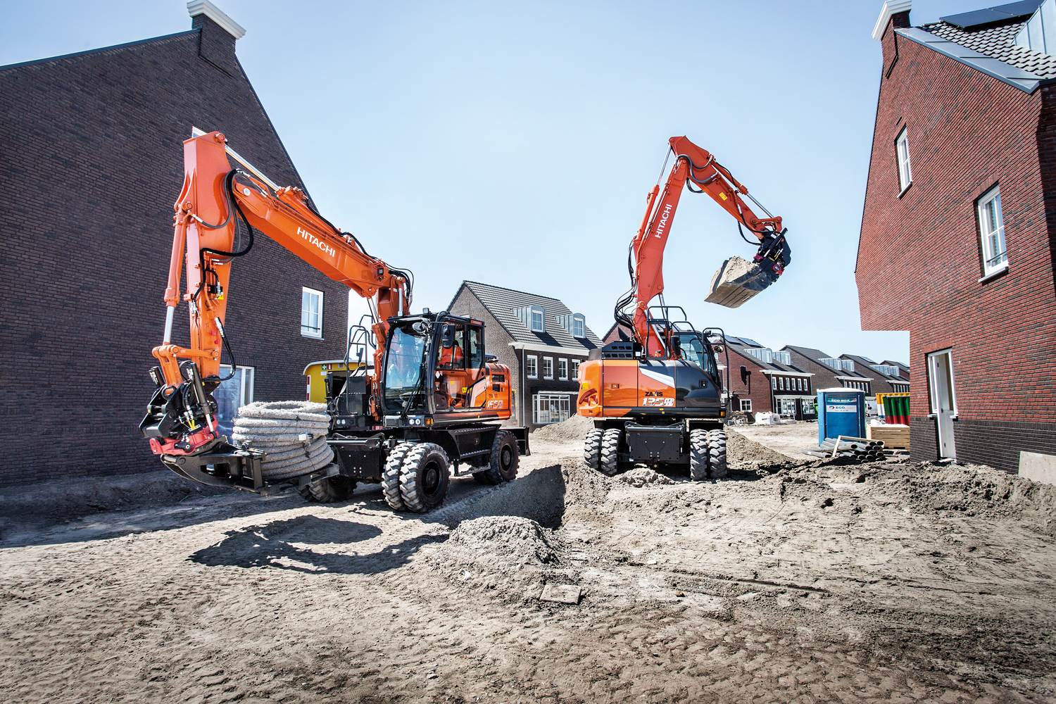 Create your vision with the new Hitachi Zaxis-7 wheeled excavator range